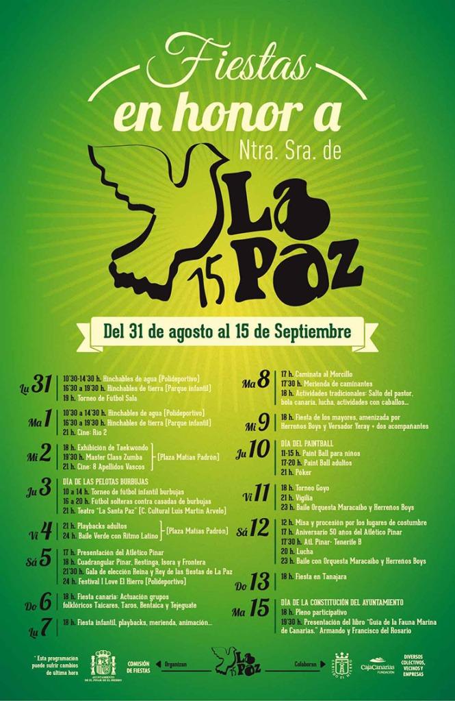 cartel fiestas de la paz 2015